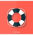 Lifebuoy web icon vector