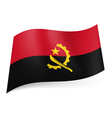 State flag of angola vector