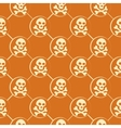 Orange skull pattern vector