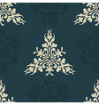 Heraldic seamless floral pattern vector