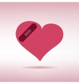 Plaster patched heart icon love wound concept vector