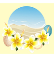 Background with frangipani vector