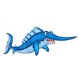 Blue marlin cartoon vector