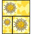 Sun backgrounds vector