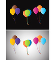 Balloons on a different background vector