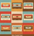Retro cassette icons vector