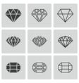 Black diamond icons set vector