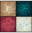 Set of four ornated floral seamless texture vector