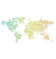 World network map logo vector