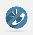Call circle blue icon with shadow vector