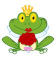 Frog bride vector