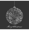 Fantasy christmas ball vector