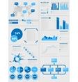 Infographic demographics 5 blue vector