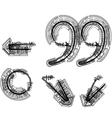 Technical typography symbol vector