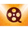 Film flat modern web button and space for your vector