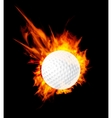 Golf fire ball vector