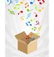 Musical box vector