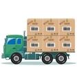 Truck with cargo vector
