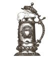 Beer mug logo design template oktoberfest vector