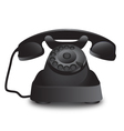Vintage old retro black telephone vector