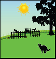 Cat in the nature vector