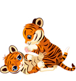 Cute playful tiger cub vector