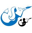 Logo mermaid vector