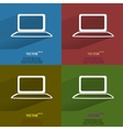 Color set notebook flat modern web button with vector