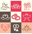 Wedding logo icons vector