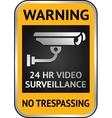Cctv video surveillance label vector