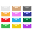 Colorful set of close envelope icons vector