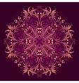 Floral pattern with round damask ornament vector