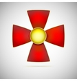 Red cross of a military medal vector