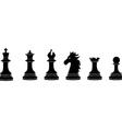 Black chess pieces vector