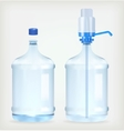 Two big bottle vector