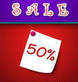 Sale discount 50 percent sign vector