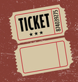 Grunge ticket vector