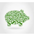 Dollar pig vector