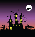 Castle with bats six vector