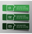 Modern design template from paper vector