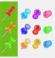 Various color pin vector