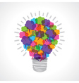 Creative light-bulb of colorful message bubble vector
