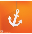 Anchor web icon vector