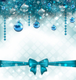 Light background with christmas traditional vector