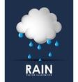 Rain weather design vector