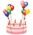 Balloon cake vector