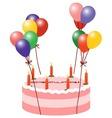 Balloon cake vector