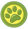 Paw print banner vector