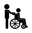 Wheelchair design vector