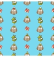 Hand drawn christmas or new year seamless pattern vector